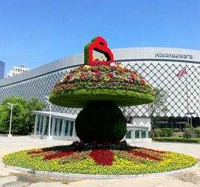青岛绿雕立体花坛