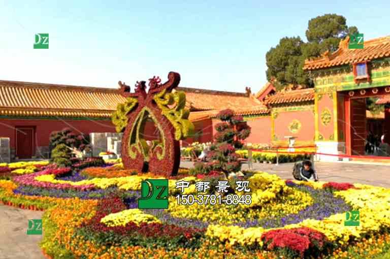 北京立体花坛施工