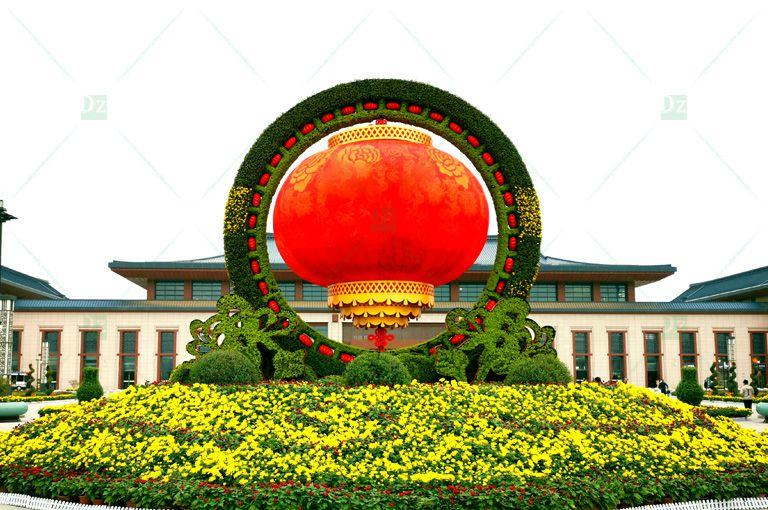 建国七十周年立体花坛造型