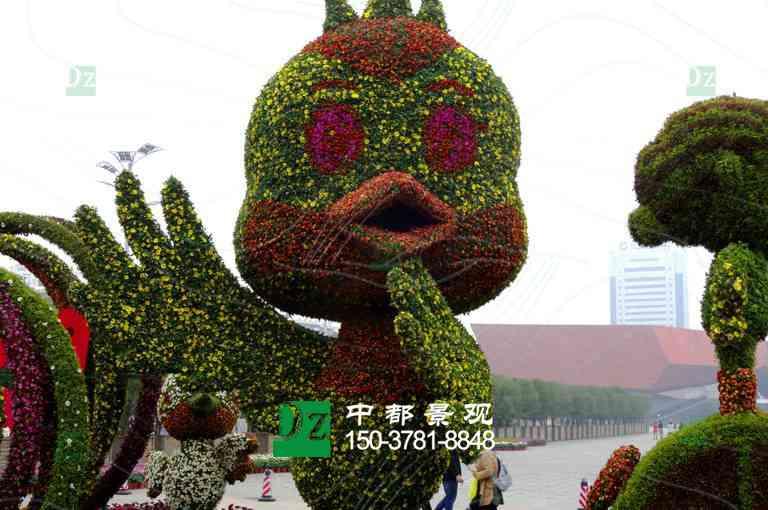 立体花坛常用的植物材料