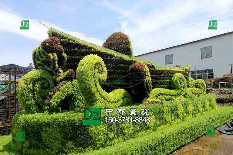 五色草绿雕制作