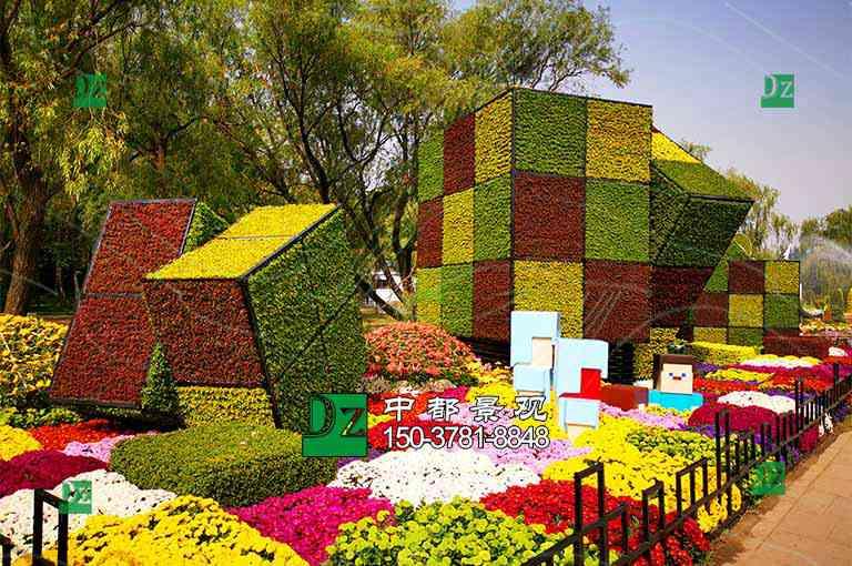 广州五色草绿雕立体花坛