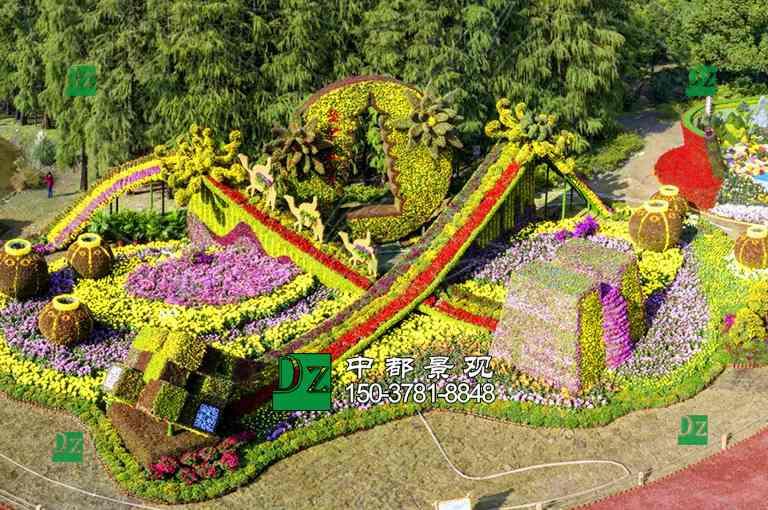 西安五色草立体花坛