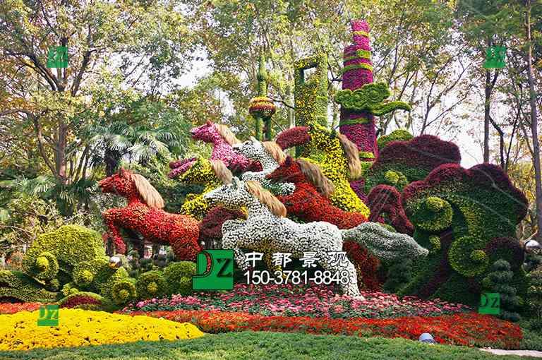 上海五色草造型绿雕