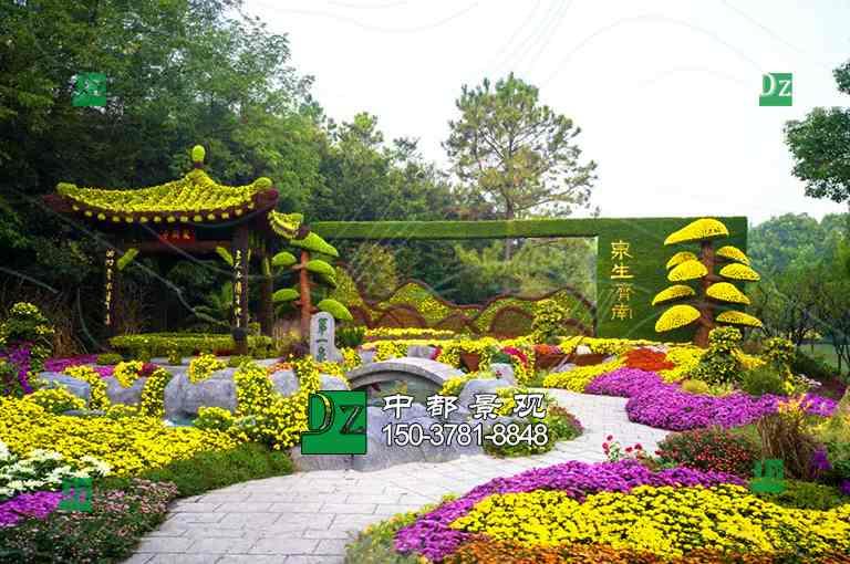 山东济南五色草绿雕