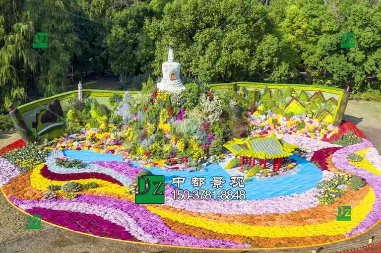 北京菊花造型立体花坛