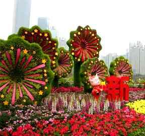 回顾五色草立体花坛造型发展历程