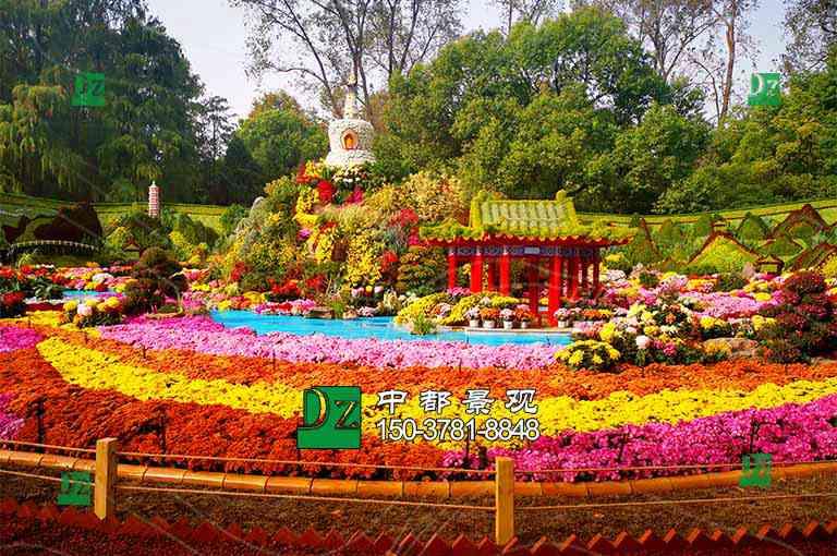 北京立体花坛绿雕