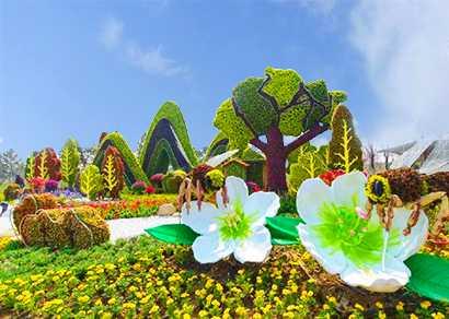 节庆植物绿雕造型为园林景观增色添彩