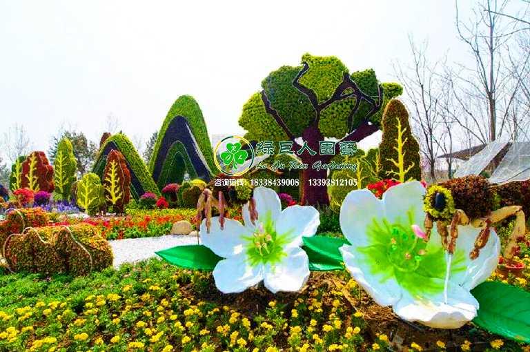 节庆植物绿雕造型