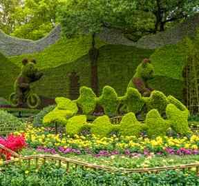 植物绿雕造型制作厂家详解节庆绿雕分类