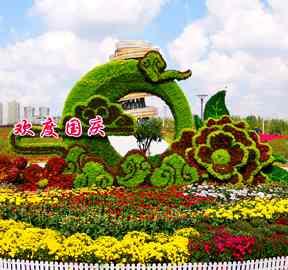 五色草立体植物绿雕制作厂家新技术为园林绿雕景观定制提供新方案