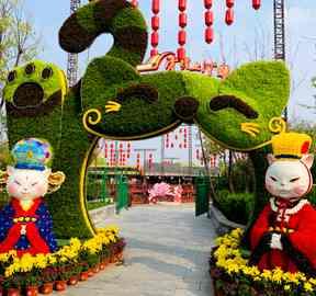 植物立体绿雕公司设计绿雕的原则