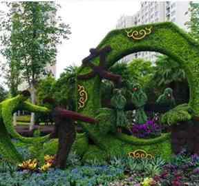 节庆五色草绿雕设计施工需遵循哪些原则?